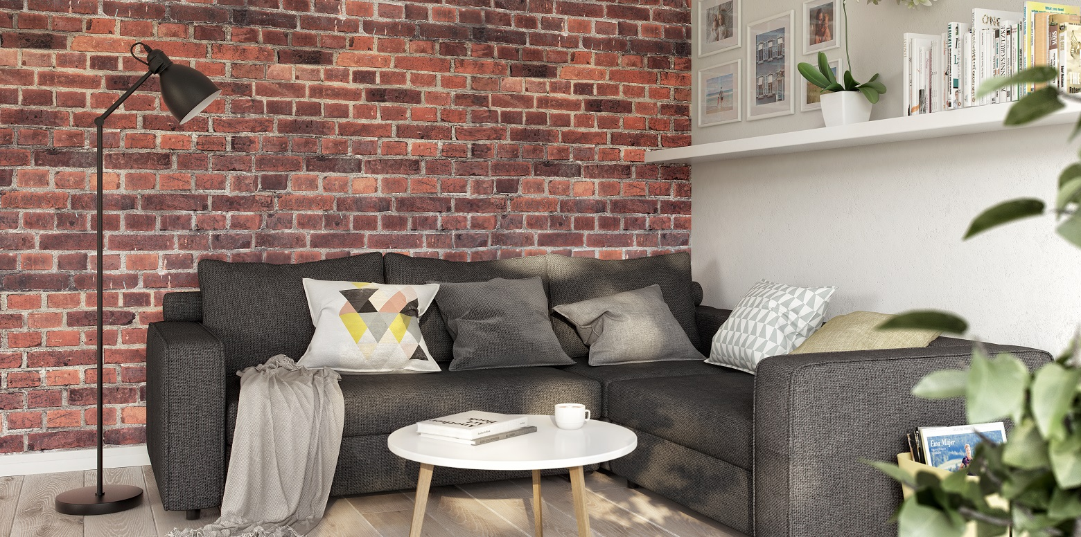 Brick in the interiors
