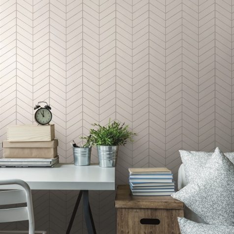 White Herringbone