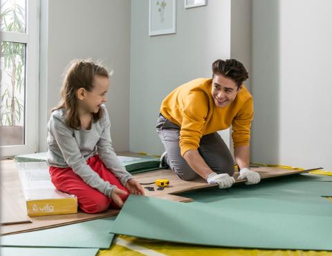 Podložky pod podlahové panely